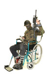 soldier in wheelchair