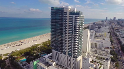 Miami Beach architecture aerial footage