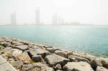 Sand storm in Abu Dhabi (United Arab Emirates)