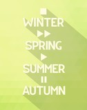 Seasons poster with concept symbols all times of the year