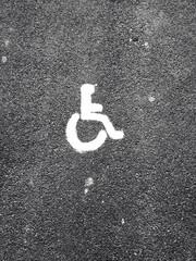 Straße / Rollstuhl