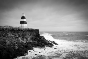 Stormy Seas Black and White