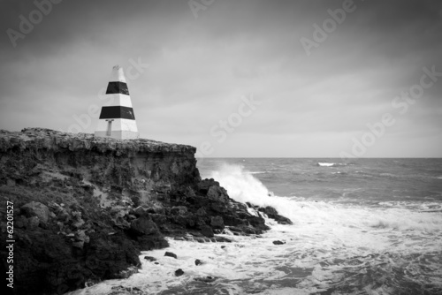 Stormy Seas Black and White - 62201527