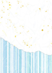 青い縞柄和紙背景