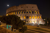 Colosseum at night, Rome Italy