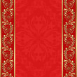red background with gold ornaments