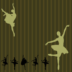 Dancing ballerina background