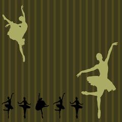 Dancing ballerina background