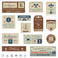 Vintage clothing tags