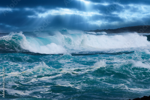 Deurstickers Water Ocean Wave