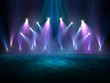 Spotlights on stage - 62204784