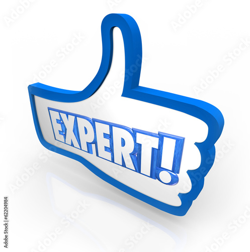 Expert Word Thumbs Up Symbol Approved Rating Experienced Review