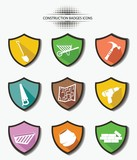 Industry badges,colorful version,vector