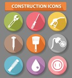 Construction buttons,colorful version