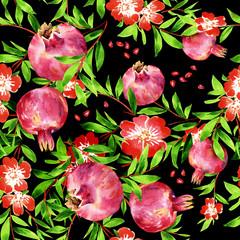 Pomegranate seamless pattern-1