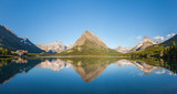 Swiftcurrent lake and Wilbur Mountain in Glacier national park