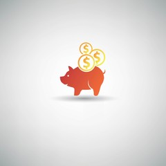Saving money symbol,vector