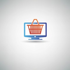 On line Shopping symbol,vector