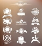 Vintage badges,vector