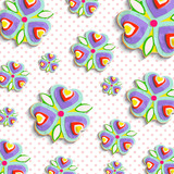 abstract flowers 3d backgrounds, traced from original artwork