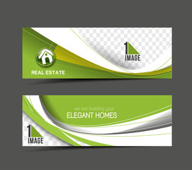Real Estate Web Banner & Header Layout Template.