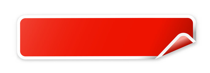 the blank red web banner