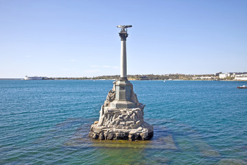 Monument to the flooded ships, symbol of city Sevastopol