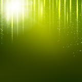 Green background with light effect. illustration.