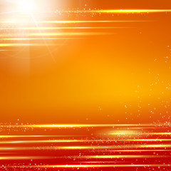 Orange background with light effect. illustration.