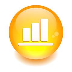 Bouton Internet graphic histogramme orange