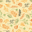 Forest herbs, orange background