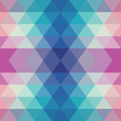 Vector  Seamless PatternBlue Purple White Triangle