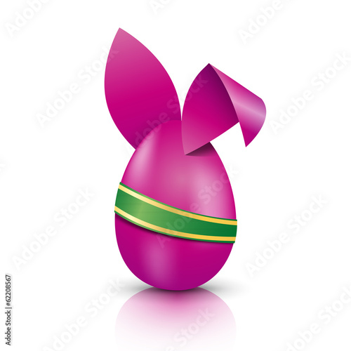 Vector easter rabbit and egg