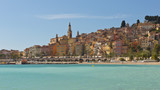 The townscape of Menton. poster