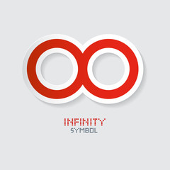 Red Paper Vector Infinity Symbol