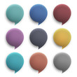 Vector 3d round speech bubbles