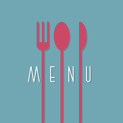 Stylish restaurant menu design in minimal style - variation 1