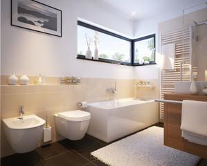 Kleines Badezimmer in einfamilienhaus - small modern bathroom