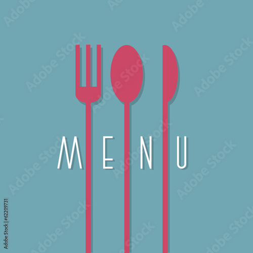 Stylish restaurant menu design in minimal style - variation 1