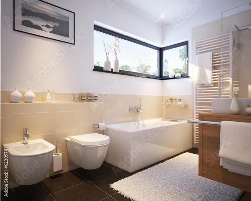 Kleines Badezimmer in einfamilienhaus - small modern bathroom - 62209741