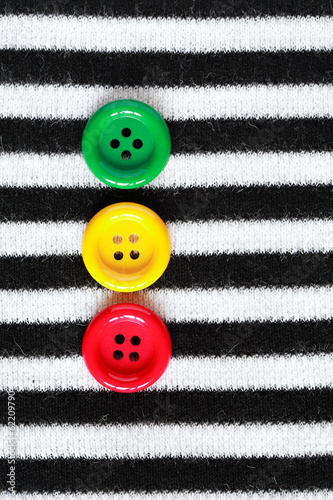 Buttons On Striped Vest