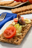 Antipasto, fuoco selettivo, close-up