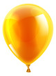 Orange birthday or party balloon