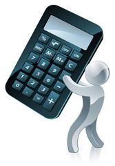 Calculator person
