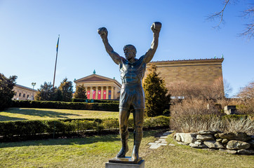 The Rocky Statue in Philadelphia,