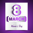Women's day greeting card beautiful colorful illustration vector