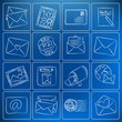 Post and mail chalky icons