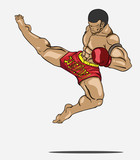 Muay thai. Martial art