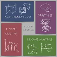 Mathematics chalky banners