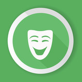 Smile mask symbol,vector